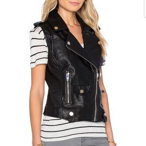 Blanknyc fake leather vest